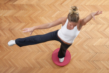 Balancing plate exercise