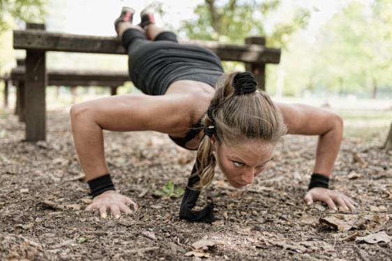 Female doing push ups