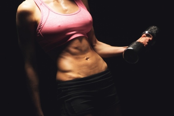 http://www.dreamstime.com/stock-photos-training-healthier-fit-lifestyle-woman-toned-flat-stomach-working-out-dumbbell-image31239233