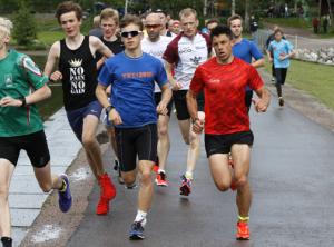 Nils-Ingar Aadne løp Sognsvann Rundt Medsols på tiden 10.32. Foto: Eivind Bye