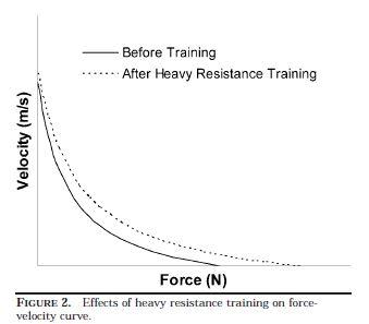 Kawamori & Haff (2004) viser hvordan tung styrketrening gir økt kraft –og hastighetskapasitet.