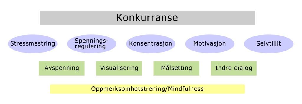 Olympiatoppens Modell for Mental Trening.